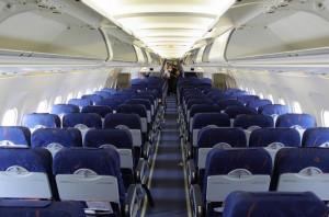 Пассажирский салон авиалайнера Airbus_A320